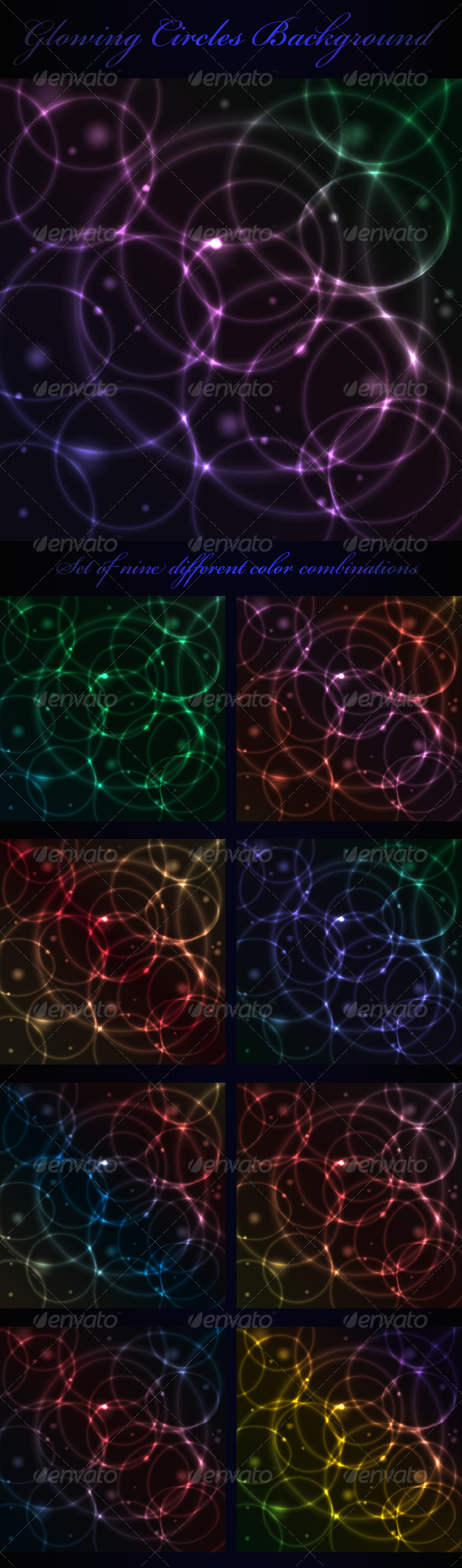 Glowing Circles Background - Backgrounds Decorative