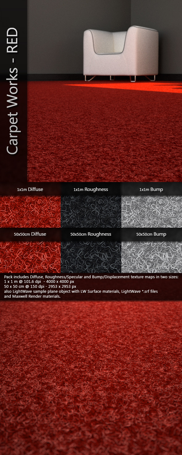 AJD Carpet Works - RED - 3DOcean Item for Sale
