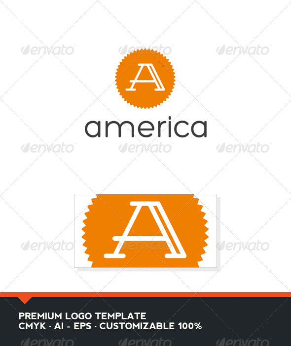 America - Letter A Logo - Letters Logo Templates