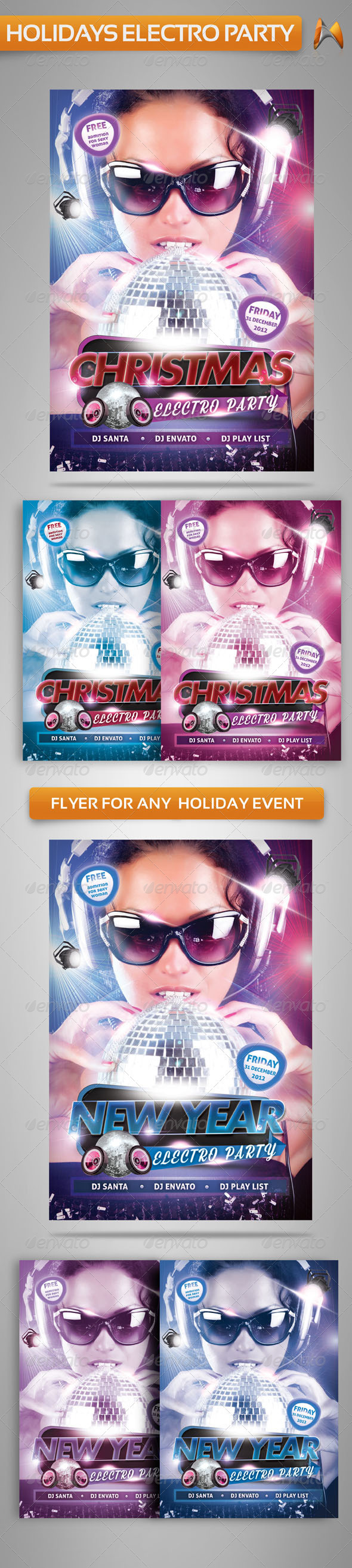 Electro Party Flyer Template - Clubs & Parties Events