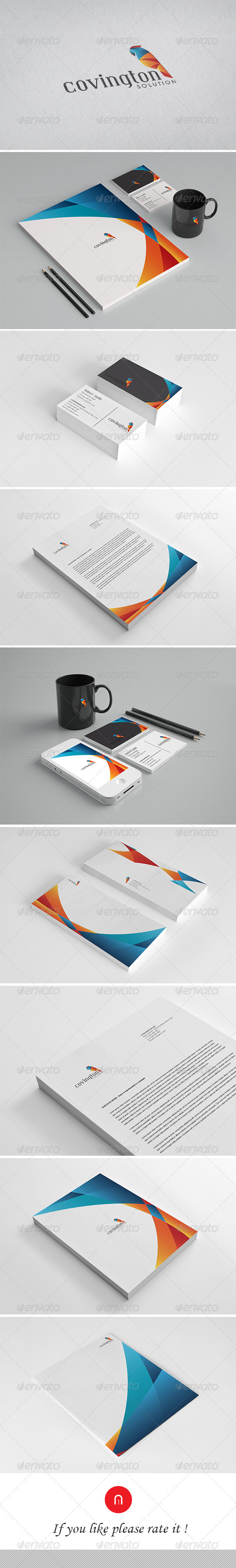 Corporate Identity - Convington Solution - Stationery Print Templates
