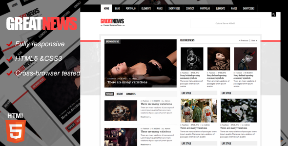 Great News Magazine Responsive Template