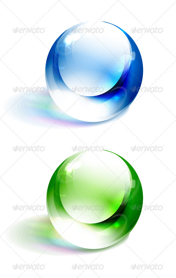 Colorful Vector Spheres - Objects Vectors