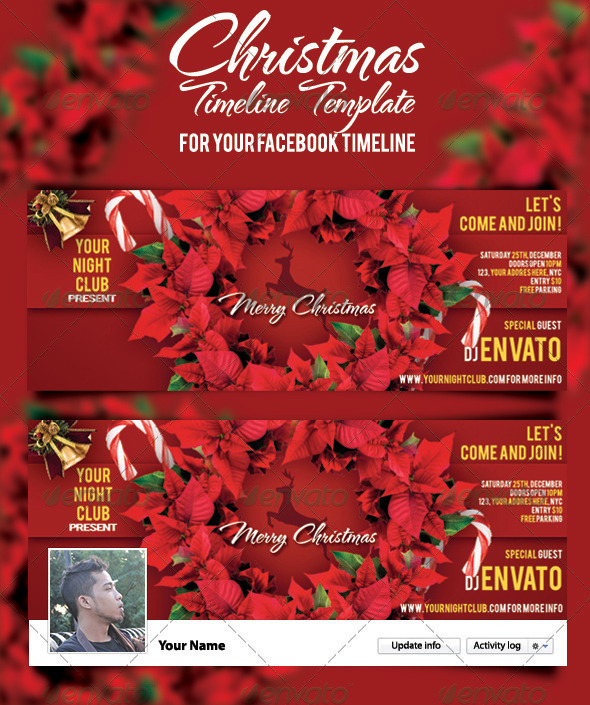 Christmas Timeline Template - Facebook Timeline Covers Social Media