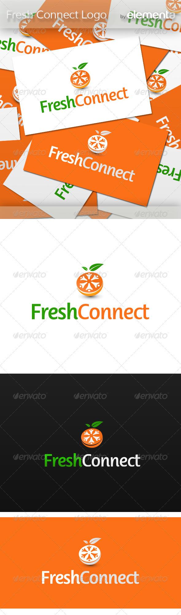 Fresh Connect Logo - Nature Logo Templates