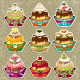Set Dessert Background with Balls  - GraphicRiver Item for Sale