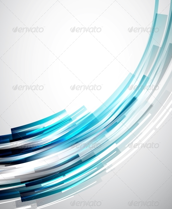 Flowing Lines Abstract Vector Background - Backgrounds Decorative