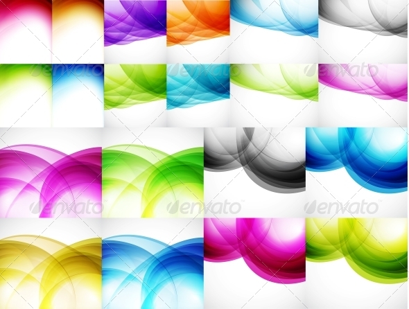 Wave Color Backgrounds - Backgrounds Decorative