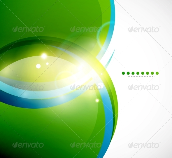 Detailed Green Wavy Vector Background - Backgrounds Decorative