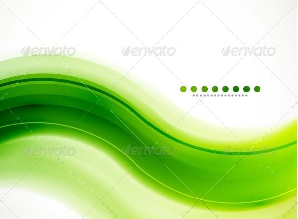 Modern Detailed Background - Green Wave - Backgrounds Decorative