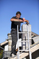 Builder constructing a chimney - PhotoDune Item for Sale