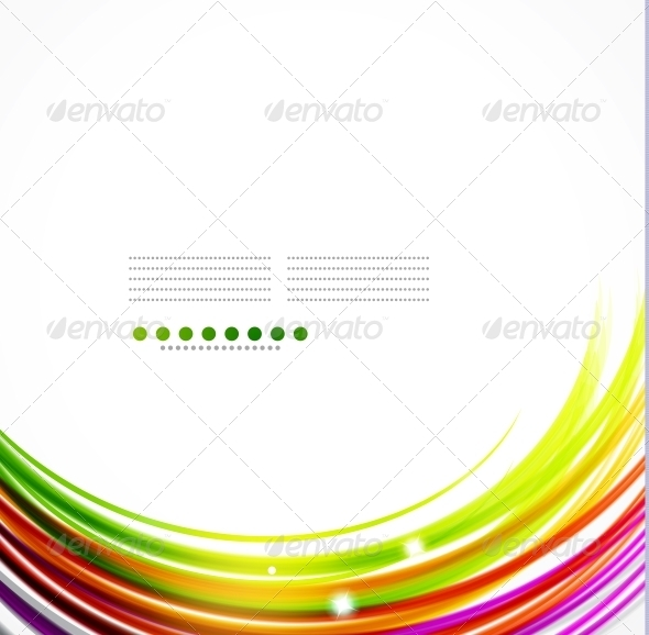 Colorful Wavy Lines - Backgrounds Decorative