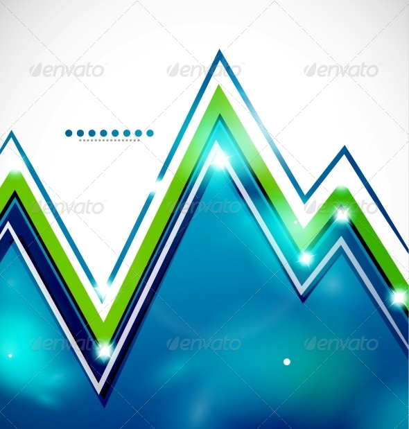 Zig-Zag Bright Background with Lights - Backgrounds Decorative