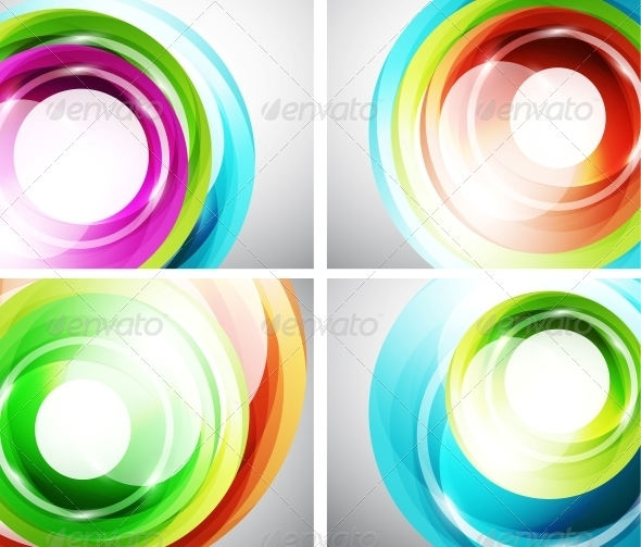 Colorful Swirl Background Set - Backgrounds Decorative