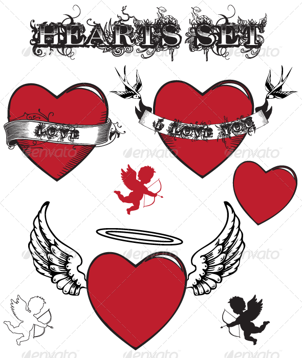 Hearts / Valentine's Set - Valentines Seasons/Holidays