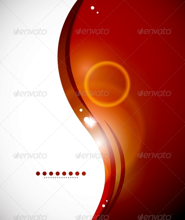 Detailed Orange Abstract Background - Backgrounds Decorative