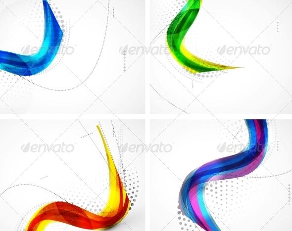 Wave Pattern Set - Backgrounds Decorative