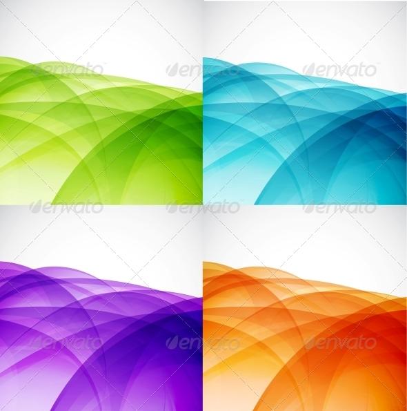 Wave Color Backgrounds - Backgrounds Decorative