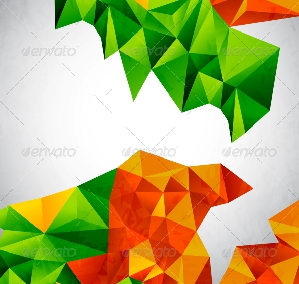 Vector Colorful Geometrical Shapes - Backgrounds Decorative