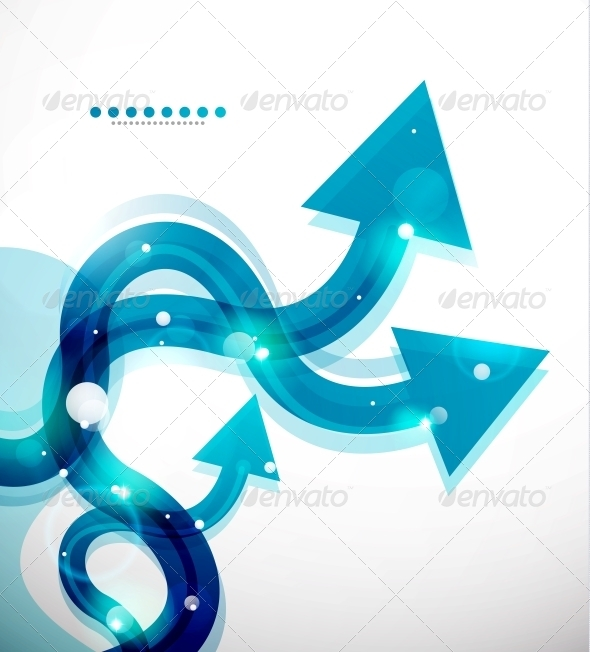 Vector Wavy Arrows Abstract Background - Backgrounds Decorative