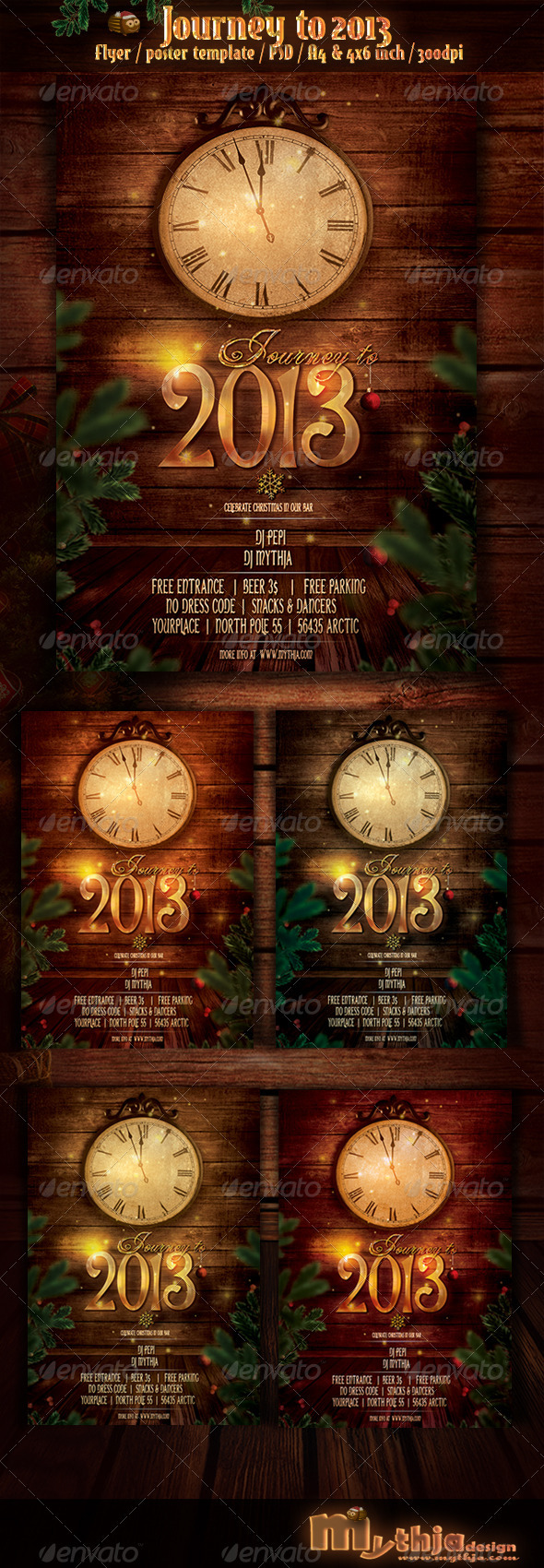 Journey to 2013 - New Year Flyer/Poster Template - Events Flyers