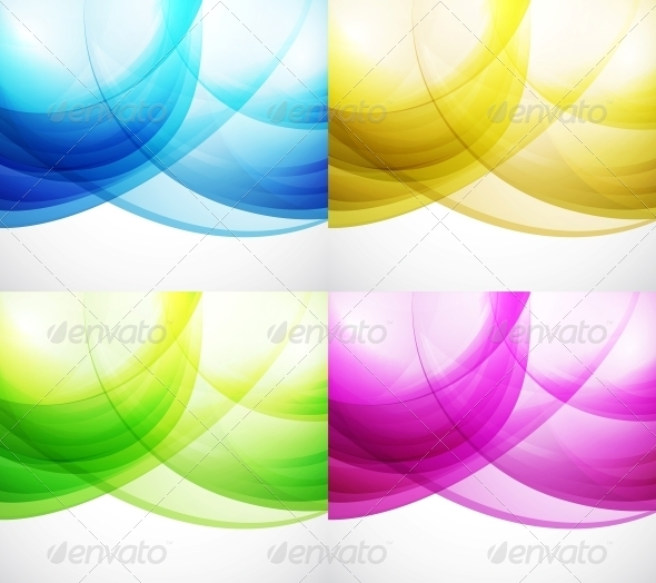 Wave Color Backgrounds - Abstract Conceptual