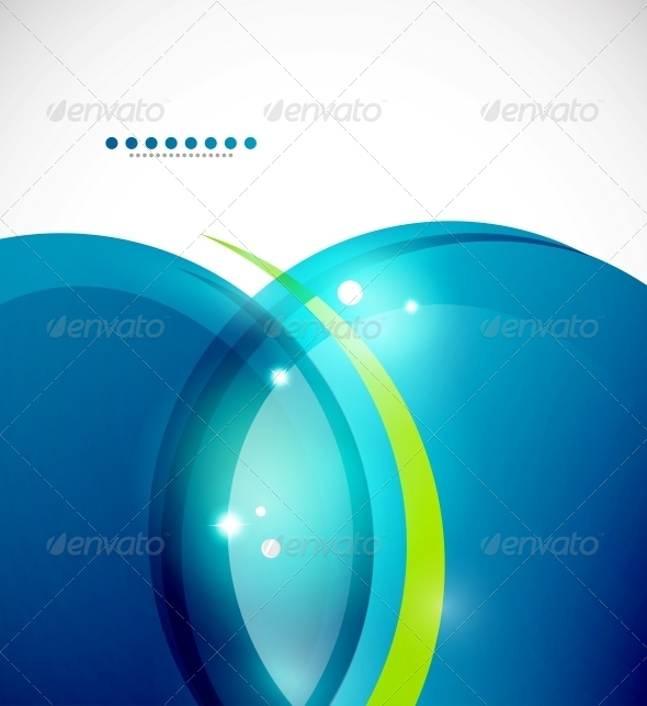 Detailed Blue Wavy Vector Abstract Background - Backgrounds Decorative
