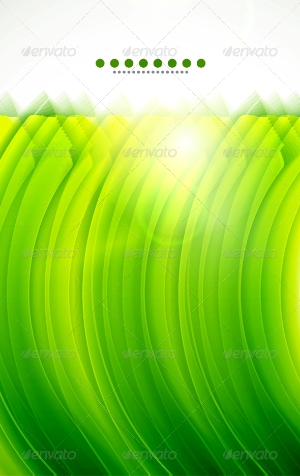 Light Glittering Green Wave Background - Backgrounds Decorative