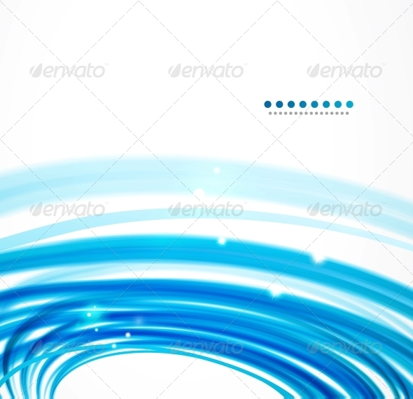 Blue Wavy Lines - Backgrounds Decorative