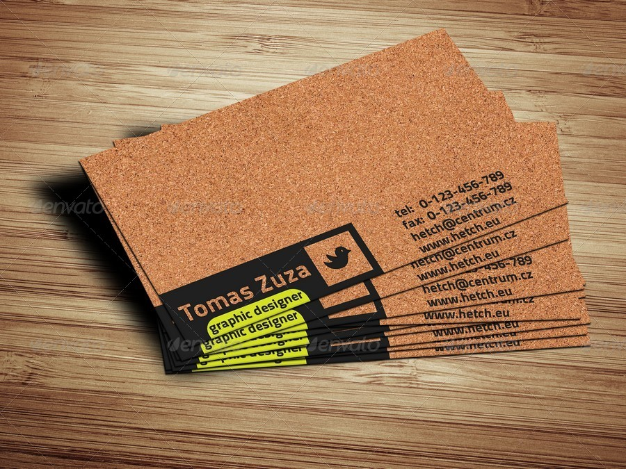 Cork Rounded And Rectangle Business Card by Hetch | GraphicRiver