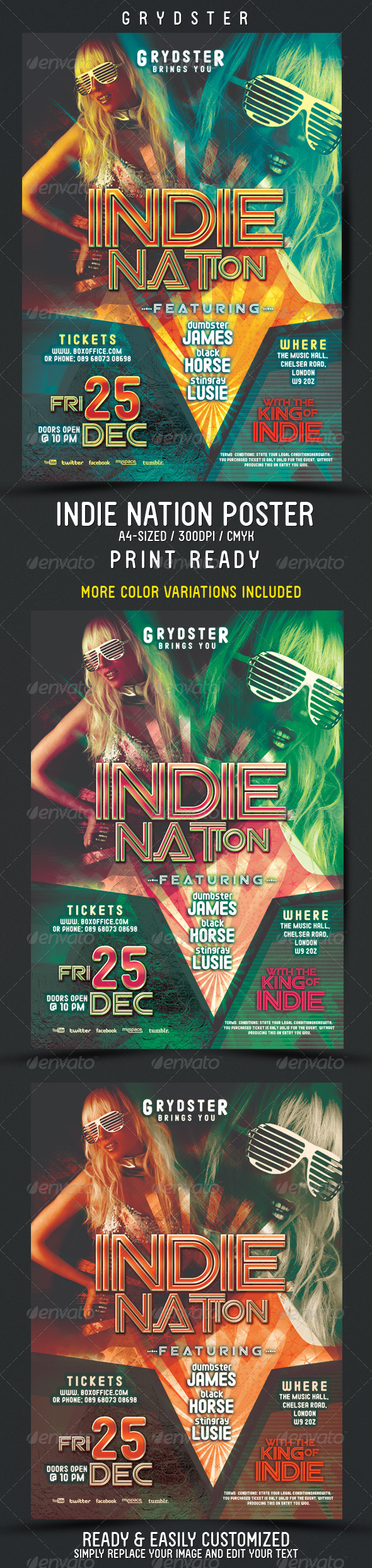 Indie Nation Flyer - Poster - Clubs & Parties Events