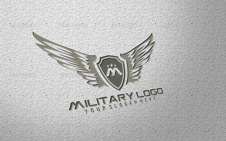 military logo template by bolpent graphicriver. Black Bedroom Furniture Sets. Home Design Ideas