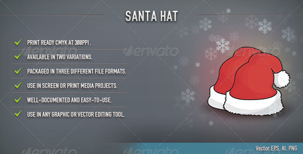 Santa Hat - Christmas Seasons/Holidays