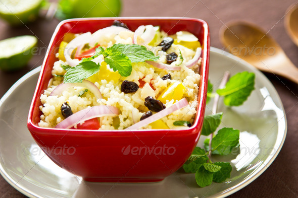 Couscous salad - Stock Photo - Images