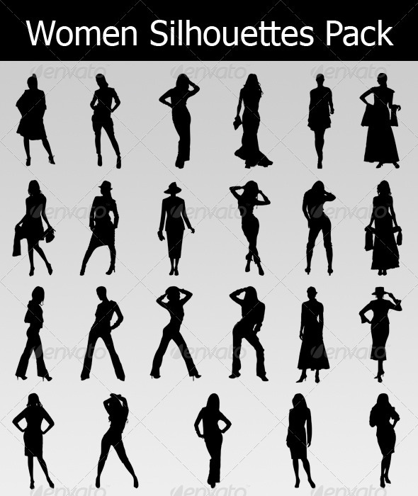 Women Silhouettes Pack - People Characters