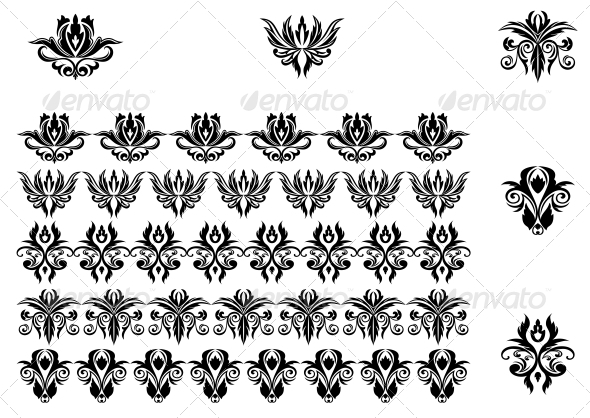 Flower Patterns and Borders - Borders Decorative