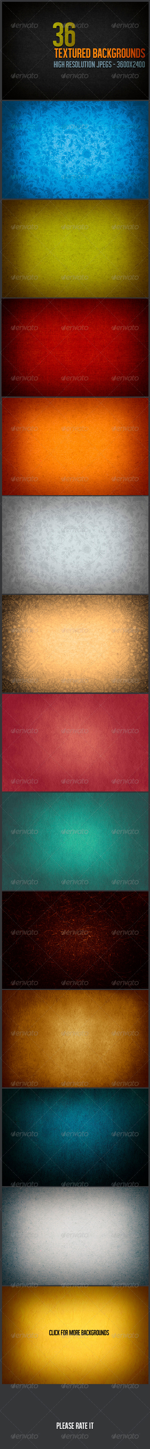 36 Textured Backgrounds