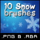 10 Hi-Quality Snow Flakes Brushes - GraphicRiver Item for Sale
