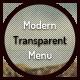 Modern Transparent Menu - CodeCanyon Item for Sale