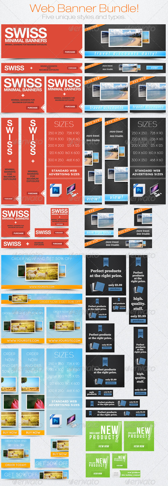 Web Banner/Ad Bundle #1 - Banners & Ads Web Elements