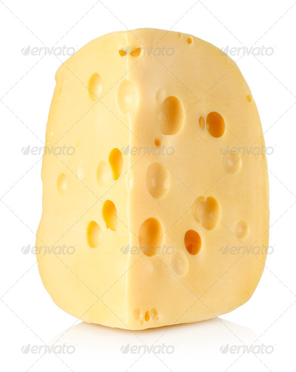 Large piece of cheese - Stock Photo - Images