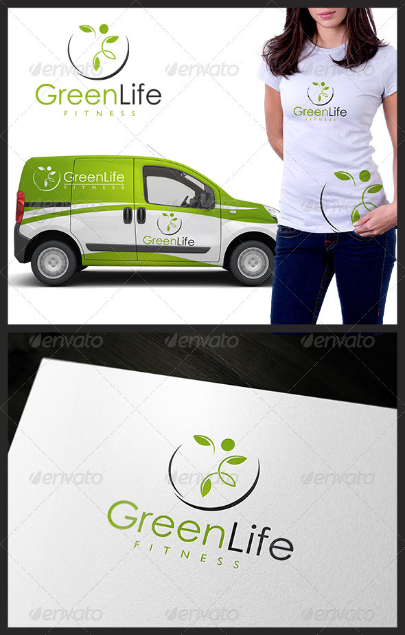 Green Life Fitness - Nature Logo Templates