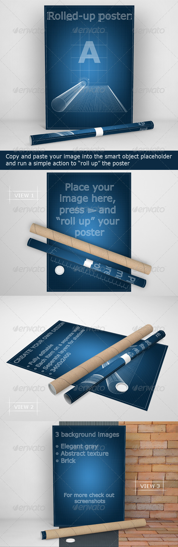 Rolled-Up Poster Mock-Up - Posters Print