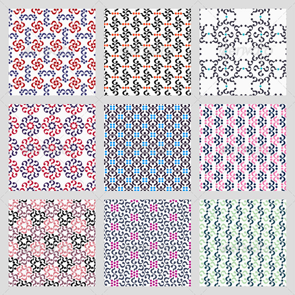 Simple Vector Seamless Patterns - Patterns Decorative