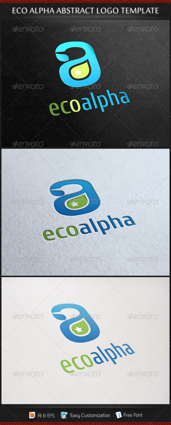 Eco Alpha Abstract Logo Template - Letters Logo Templates