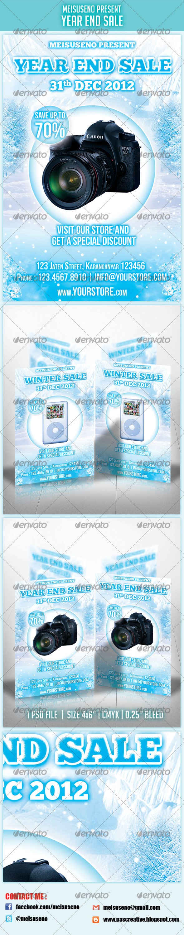 Year End Sale Flyer - Commerce Flyers