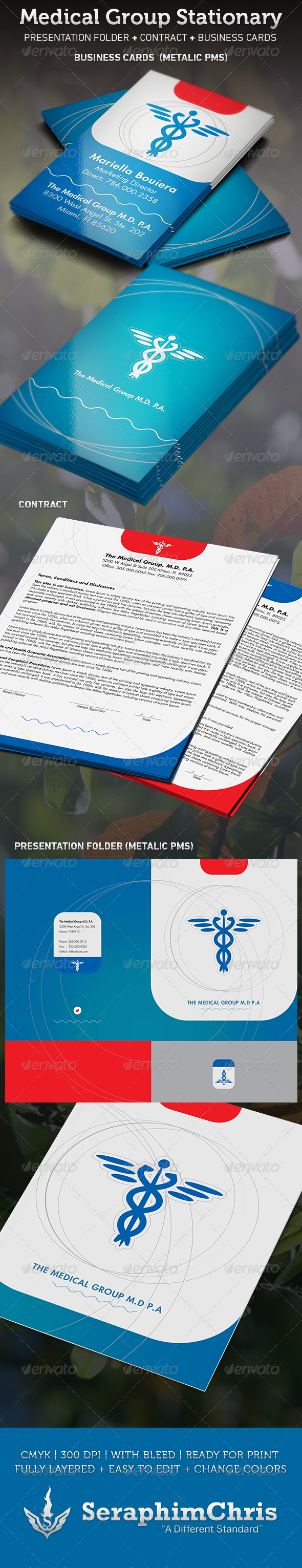 Medical Group Stationary Template - Stationery Print Templates