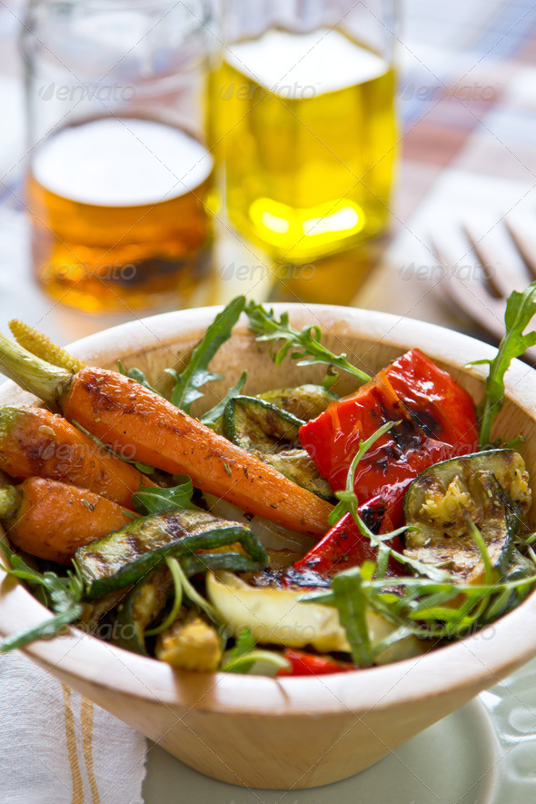 Grilled vegetables salad - Stock Photo - Images