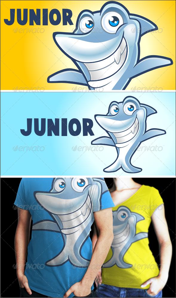 Junior The Shark - Logo Template - Animals Logo Templates