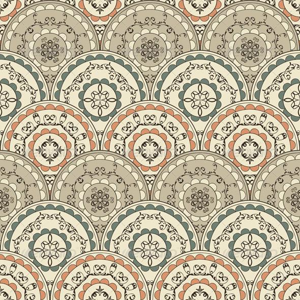 Vector Seamless Vintage Oriental Pattern - Patterns Decorative